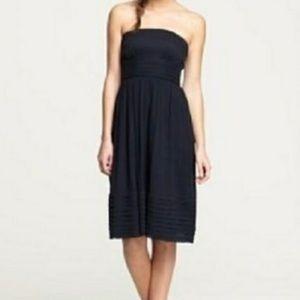 J.Crew Silk Chiffon Dress Navy Blue Size 16